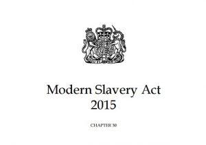 2015年3月に制定された現代奴隷法